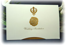 Sikh Wedding Card 1513 S